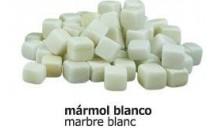 Daus marbre blanc 2x2 cm