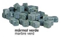 Daus marbre verd 2x2 cm