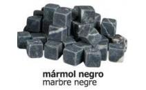 Daus marbre negre 2x2 cm